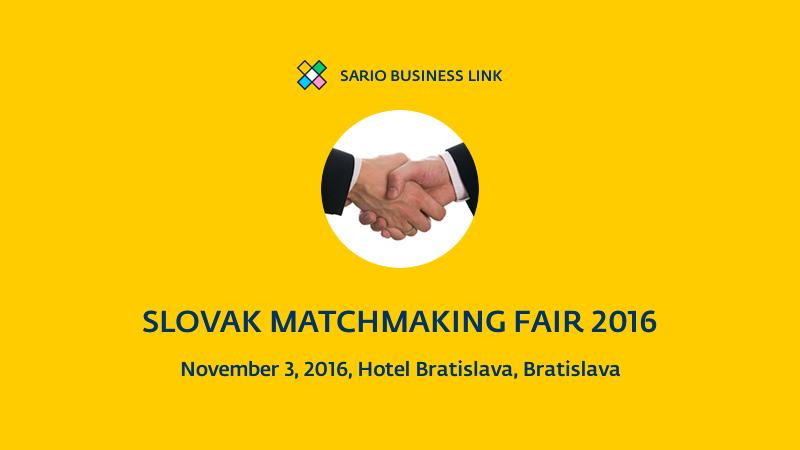 Slovak Matchmaking Fair 2016